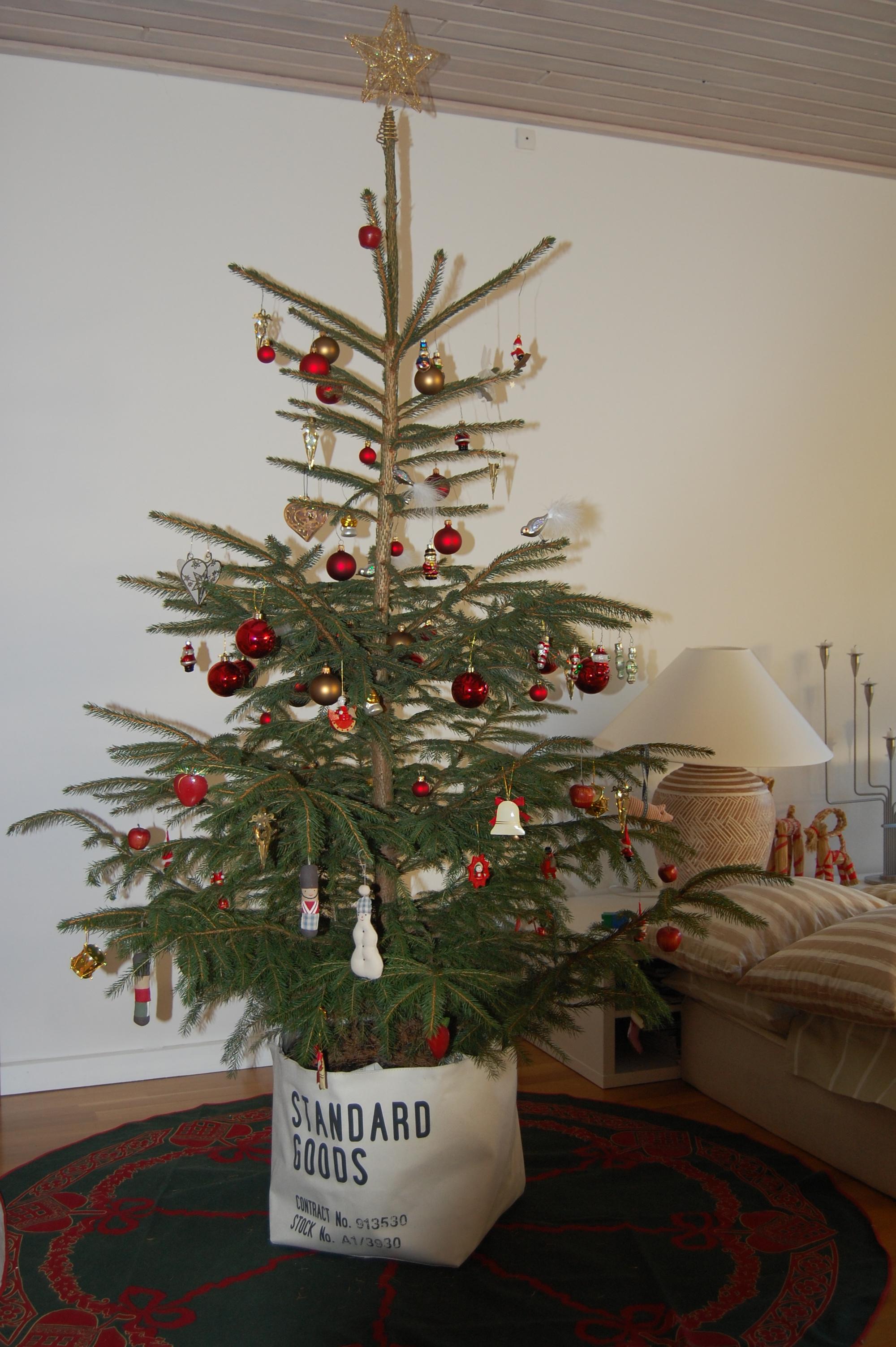 potte juletræ